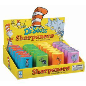 Dr. Seuss Sharpener W/Eraser (24)