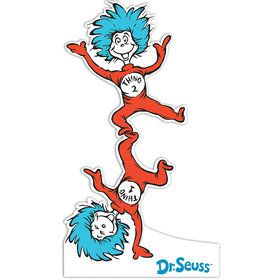 Dr. Seuss Thing 1 and Thing 2 Standup - 6' Tall