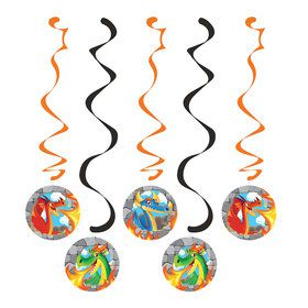 Dragon Hanging Decorations (5 Count)