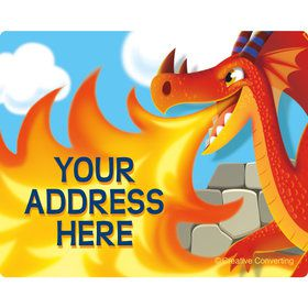 Dragon Personalized Address Labels (Sheet of 15)