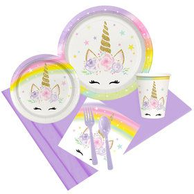Dreamy Unicorn Party Pack for 8