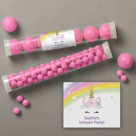 Dreamy Unicorn Personalized Candy Tubes (12 Count)