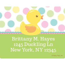 Duckie Dots Personalized Address Labels (Sheet of 15)