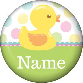 Duckie Dots Personalized Mini Button (Each)