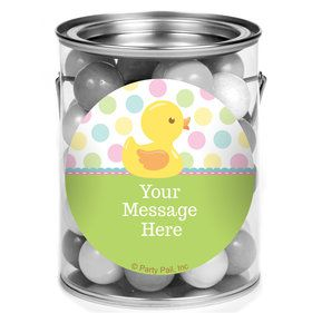 Duckie Dots Personalized Mini Paint Cans (12 Count)