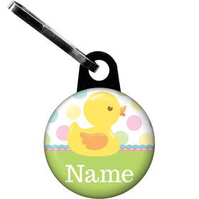 Duckie Dots Personalized Zipper Pull (Each)