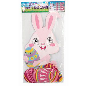 Easter Bunny & Eggs Cut Out Set (30 pieces)