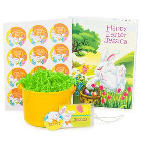 Easter Bunny Personalized Basket (Each)