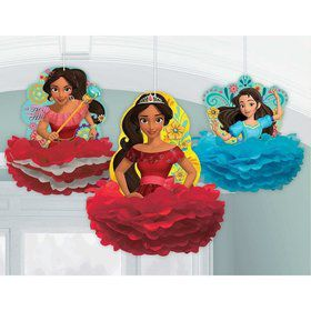 Elena of Avalor Fluffy Decorations (3 Count)