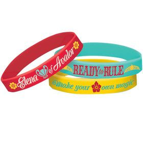 Elena of Avalor Rubber Bracelet Favors (6 Count)