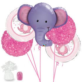 Elephant Baby Shower Girl Balloon Bouquet Kit