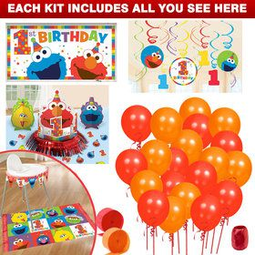 Elmo Turns One Decoration Kit