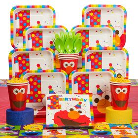 Elmos 1st Birthday Deluxe Kit Serves 8 Guests