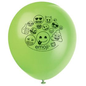"Emoji 12"" Latex Balloons (8 Count)"