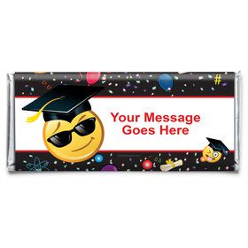 Emoji Graduation Personalized Candy Bar Wrapper (Each)
