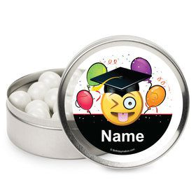 Emoji Graduation Personalized Mint Tins (12 Pack)