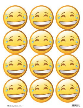 Emoji LOL Faces Stickers (Sheet of 12)
