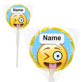 "Emoji Personalized 2"" Lollipops (20 Pack)"