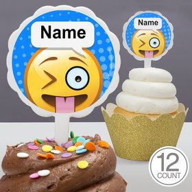 Emoji Personalized Cupcake Picks (12 Count)