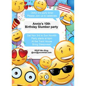 Emoji Personalized Invitation (Each)