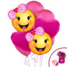 Emoji Pink Balloon Bouquet