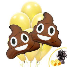 Emoji Poop Jumbo Balloon Bouquet