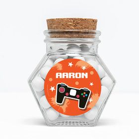 "Epic Birthday Personalized 3"" Glass Hexagon Jars (Set of 12)"