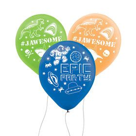 "Epic Party 12"" Printed Latex Balloons (6)"