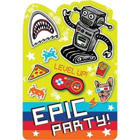 Epic Party Postcard Invitation (8)