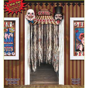 Evil Carnival Door Way Curtain