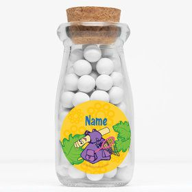 "Explorer Friends Personalized 4"" Glass Milk Jars (Set of 12)"