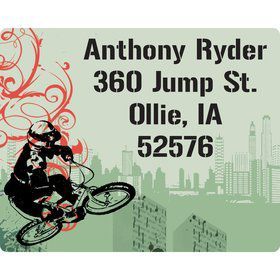 Extreme Sports Personalized Address Labels (Sheet of 15)