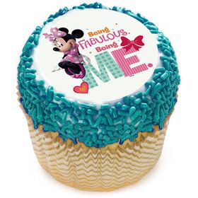 "Fabulous Minnie 2"" Edible Cupcake Topper (12 Images)"