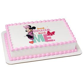 Fabulous Minnie Quarter Sheet Edible Cake Topper (Each)
