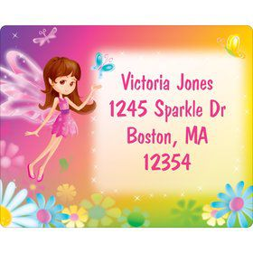 Fairy Birthday Party Personalized Address Label