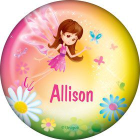 Fairy Birthday Party Personalized Button (each)