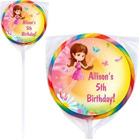 Fairy Birthday Party Personalized Lollipop (pack of 12)