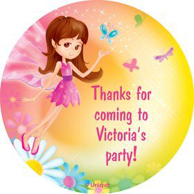 Fairy Birthday Party Personalized Sticker
