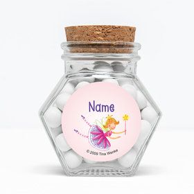 "Fairy Party Personalized 3"" Glass Hexagon Jars (Set of 12)"