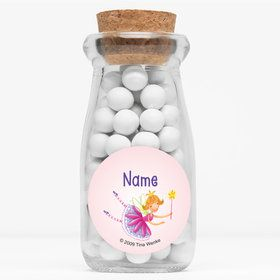 "Fairy Party Personalized 4"" Glass Milk Jars (Set of 12)"