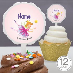 Fairy Party Personalized Cupcake Picks (12 Count)
