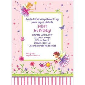Fairy Party Personalized Invitation (each)
