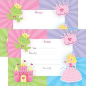 Fairytale Princess Personalized Thank You Note