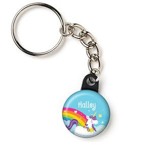 "Fairytale Unicorn Personalized 1"" Mini Key Chain (Each)"