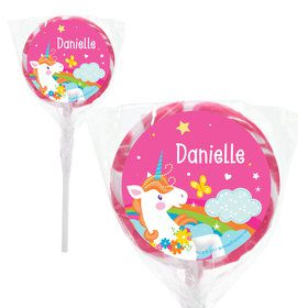 "Fairytale Unicorn Personalized 2"" Lollipops (20 Pack)"