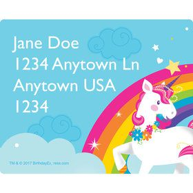 Fairytale Unicorn Personalized Address Labels (Sheet of 15)
