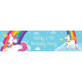 Fairytale Unicorn Personalized Banner (Each)