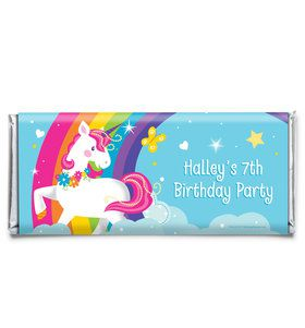Fairytale Unicorn Personalized Candy Bar Wrapper (Each)