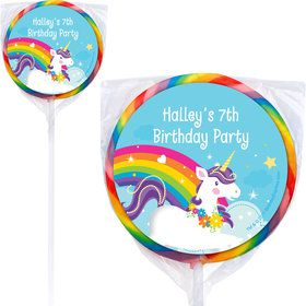 Fairytale Unicorn Personalized Lollipops (12 Pack)