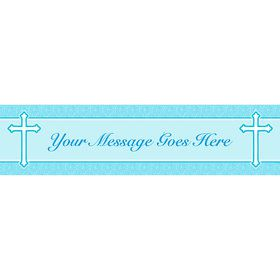 Faith Blue Personalized Banner (Each)